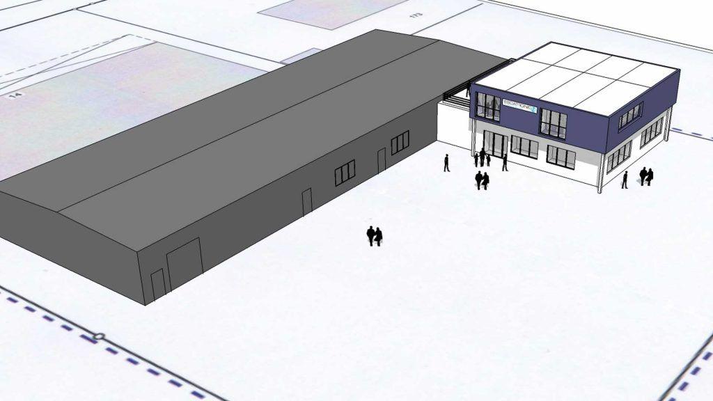 Escatronic - Neubau für einen Gewerbe-Betrieb