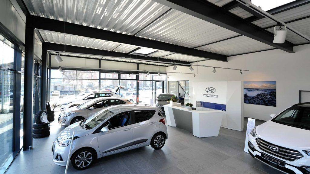 Neubau eines Hyundai Ausstellungsgebäudes in Laatzen